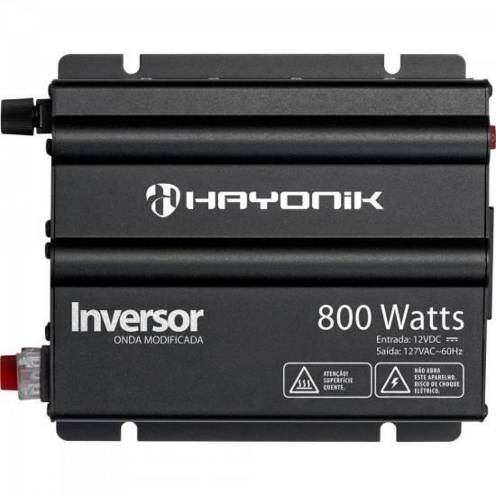 Inversor 800W 12VDC/127V Onda Modificada Cinza Escuro HAYONIK (62389)