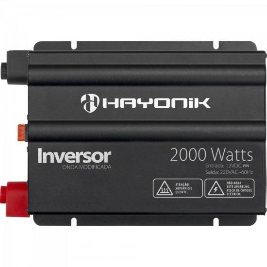 Inversor 2000W 12VDC/220V Onda Modificada Cinza Escuro HAYONIK (62396)