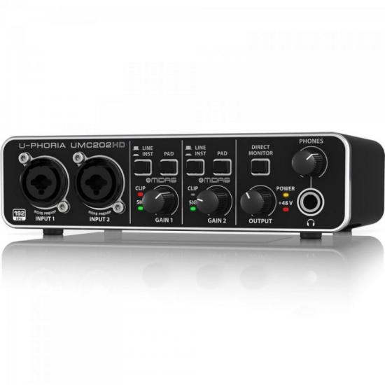 Interface de Áudio Digital U-PHORIA UMC202HD Preto BEHRINGER (62558)