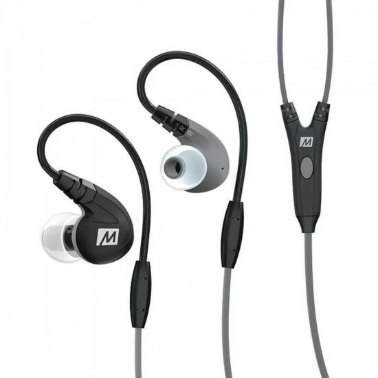 Fone de Ouvido Intra-Auricular com Microfone M7-P Preto MEE AUDIO (62844)