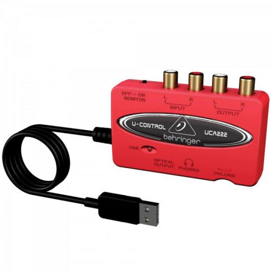 Interface Digital de Áudio USB U-CONTROL UCA222 Vermelho BEHRINGER (62995)