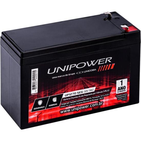 Bateria Estacionária Selada 12V/7Ah VRLA UP1270SEG UNIPOWER (63595)