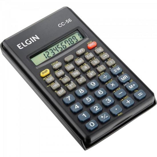 Calculadora Científica 56 Funções CC56 Preto ELGIN (63807)