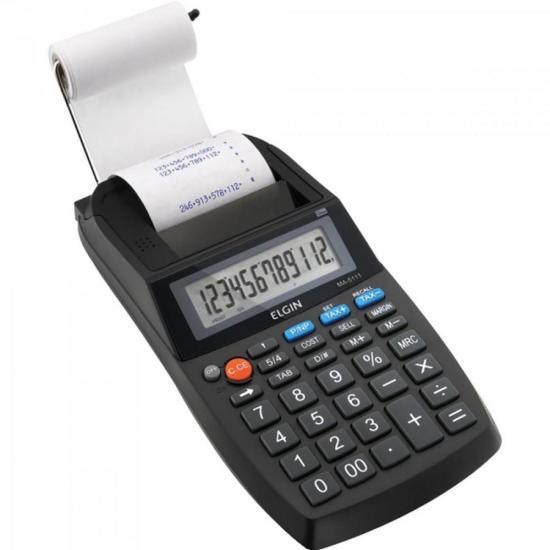 Calculadora com Bobina Compacta MA 5111 Preta ELGIN (63825)
