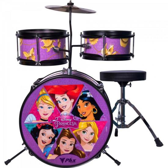 Bateria Infantil Disney Princesas BID-P1 Rosa PHX (63992)