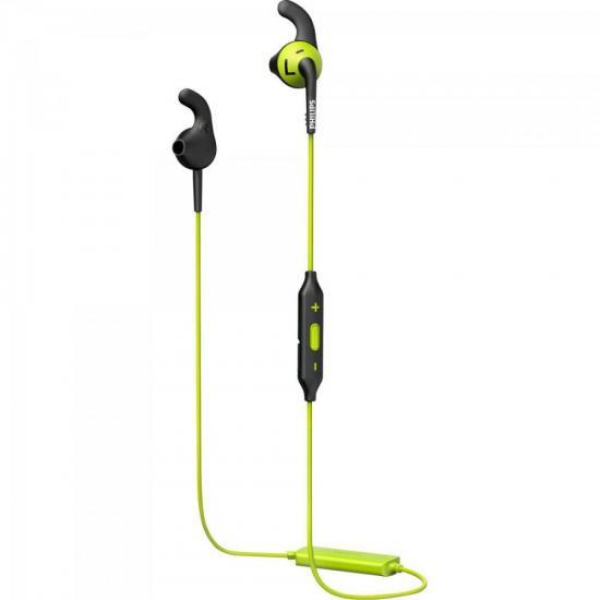 Fone Esportivo Bluetooth Wireless SHQ6500CL/00 Preto/Verde (64366)
