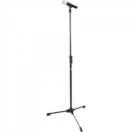 Pedestal Reto Para Microfone ideal para Estúdio TPR Preto ASK (65028)