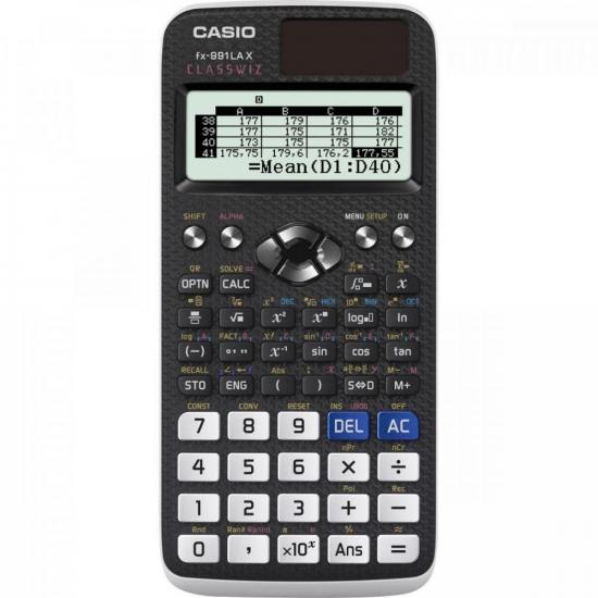 Calculadora Científica 552 Funções FX-991LAX Preta CASIO (65560)