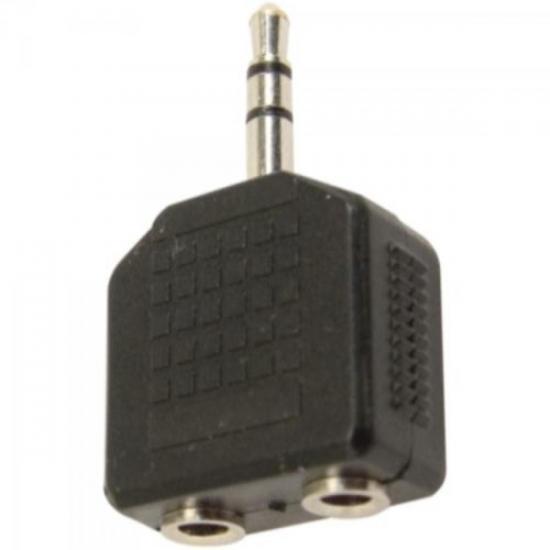Adaptador 2 P2 Stereo x P2 Stereo Niquelado GENÉRICO (6569)