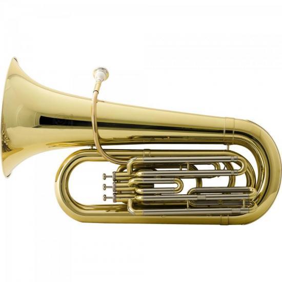 Tuba Bb 3/4 3 Pistos HBBL332L Laqueada HARMONICS (65901)