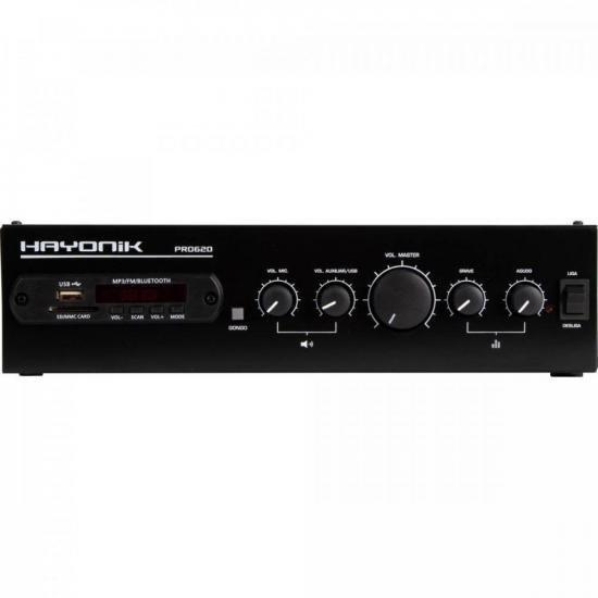 Amplificador 100W RMS com Gongo Eletrônico PRO620 HAYONIK (66070)