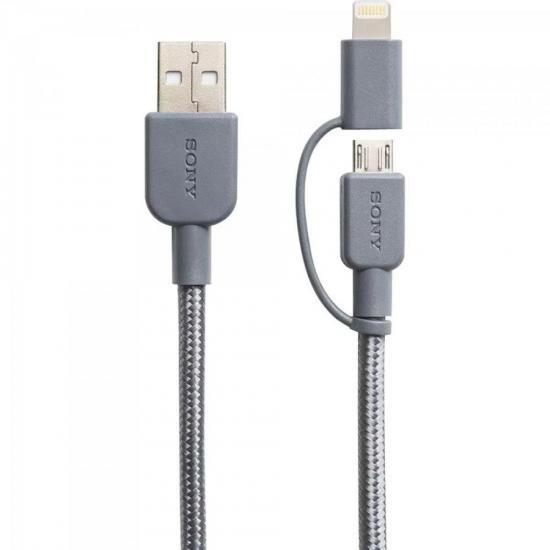 Cabo USB/Mini C/Lightning CP-ABLP150H Cinza SONY (66484)