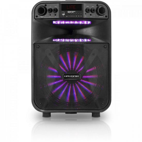 Caixa Multiuso Portátil Bluetooth/MicroSD/USB/FM 200W GO!POWER 300 (66491)