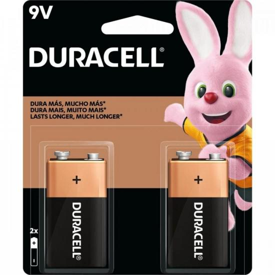 Bateria Alcalina c/ 2 Unidades 9V DURACELL (66889)
