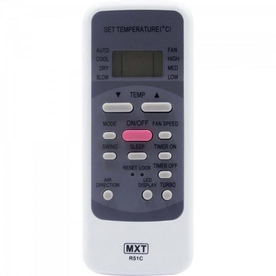 Controle Remoto para Ar Condicionado MIDEA R51C MXT (67522)