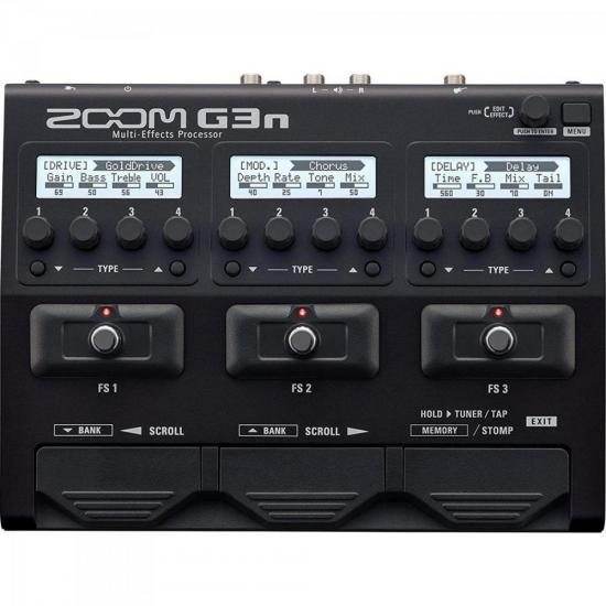 Pedaleira Para Guitarra G3N Preta ZOOM (67871)