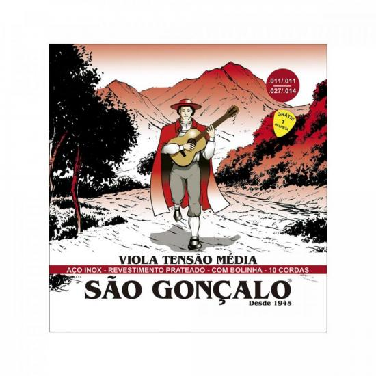 Encordoamento para Viola Caipira em Aço SÃO GONÇALO (69166)