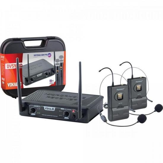 Microfone Sem Fio Headset Duplo DVS100DH VOKAL (70139)