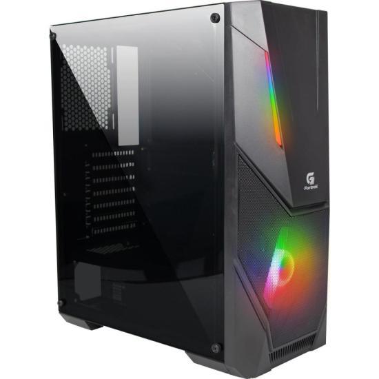 Gabinete Gamer Mid Tower BLACK HAWK RGB FORTREK (70570)