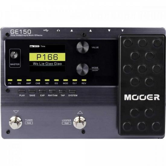 Pedaleira Multi-Efeitos para Guitarra GE150 Preta MOOER (71083)